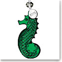 Waterford 2018 Seahorse Ornament, Green