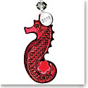 Waterford 2018 Seahorse Ornament, Red