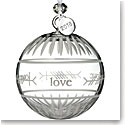 Waterford Crystal 2018 Ogham Love Ball Ornament
