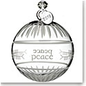 Waterford Crystal 2018 Ogham Peace Ball Ornament