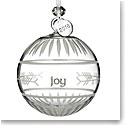 Waterford Crystal 2018 Ogham Joy Ball Ornament