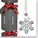 Waterford Crystal 2018 Giftology Holiday Cracker with Mini Snowflake Ornament