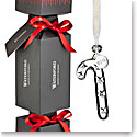 Waterford Crystal 2018 Giftology Holiday Cracker with Mini Candy Cane Ornament