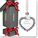 Waterford Crystal 2018 Giftology Holiday Cracker with Heart Merry Xmas Ornament