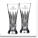 Waterford Crystal, 2017 MLB World Series Houston Astros Lismore Diamond Crystal Pilsner, Pair