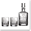Waterford Crystal Master Craft Crest Whsikey Decanter and Set of 4 Tumblers, Limited Edition