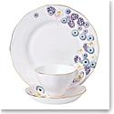 Royal Albert Alpha Foodie 3-Piece Set, Teacup Saucer & Plate Pink