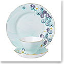 Royal Albert Alpha Foodie 3-Piece Set, Teacup, Saucer and Plate Turquoise