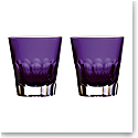 Waterford Crystal Jeff Leatham Icon DOF Pair Amethyst