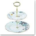 Royal Albert Alpha Foodie Cake Stand Two Tier Turquoise
