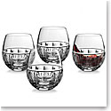 Waterford Crystal, Bolton Stemless Red Wine Glasses, Set of Four