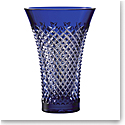 "Waterford Crystal Alana Vase Flared 8"" Blue"