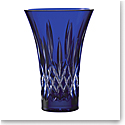 "House of Waterford Treasures of the Sea, Lismore 8"" Blue Flared Vase"
