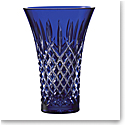 "Waterford Crystal Araglin Vase Flared 8"" Blue"