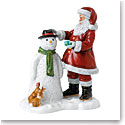 Royal Doulton 2019 Father Christmas Annual Figure, Santas Snow Buddy