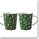 Royal Doulton 2018 Ellen DeGeneres Christmas Tree Merry Mug, Single