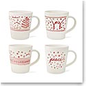 Royal Doulton 2018 Holiday Accent Mug, Set of Four