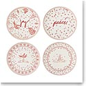 "ED Ellen DeGeneres By Royal Doulton Holiday Accent Plate 8"" Set of 4"