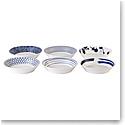 """Royal Doulton Pacific Mixed Patterns Pasta Bowl 8.6"""" Set of 6"""
