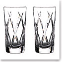Waterford Crystal Gin Journeys Olann Hiball Glasses, Pair