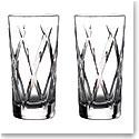 Waterford Crystal Gin Journeys Olann Hiball Glasses, Pair