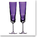 Waterford Crystal Jeff Leatham Icon Flute 6.4oz. Pair Amethyst