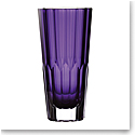 "Waterford Crystal Jeff Leatham Icon Vase 12"" Amethyst"