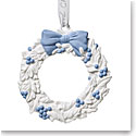 Wedgwood 2019 Figural Wreath Christmas Ornament