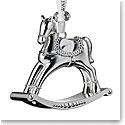 Waterford Crystal 2019 Silver Rocking Horse Christmas Ornament