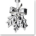 Waterford 2019 Silver Holly Ornament
