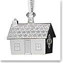 Waterford Crystal 2019 Silver Gingerbread House Christmas Ornament