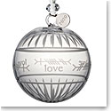 Waterford Crystal 2019 Ogham Love Ball Christmas Ornament