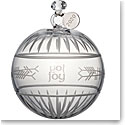 Waterford Crystal 2020 Ogham Joy Ball Christmas Ornament