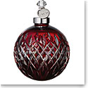 Waterford Crystal 2020 Ruby Red Ball Christmas Ornament
