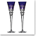 Waterford Crystal 2020 Times Square Ultra Violet Flutes, Pair