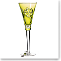 Waterford Crystal, Snowflake Wishes Prosperity Prestige Edition Lime Flute, Single