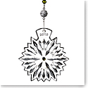 Waterford Crystal, Snowflake Wishes Prosperity Ornament 2019, Lime Jewels