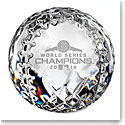 Waterford Crystal 2018 MLB World Series Boston Red Sox Baseball Paperweight, Limited Edition