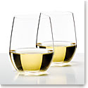 Riedel O Stemless, Viognier, Chardonnay Crystal Wine Glasses, Pair