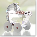 Swarovski Baby Carriage, Crystal and Pink