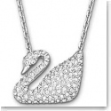 Swarovski Swan Necklace, White, Rhodium