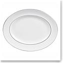 "Vera Wang Wedgwood Blanc Sur Blanc Oval Platter 15.25"""