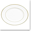 Vera Wang Wedgwood Golden Grosgrain Oval Platter 13.75""