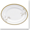 "Vera Wang Wedgwood Vera Lace Gold Oval Platter 13.75"""