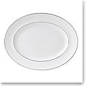 "Wedgwood Signet Platinum Oval Platter 13.75"""