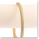 Swarovski Stone Mini Gold Bangle Bracelet, Medium