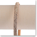 Swarovski Stone Bangle, White, Rose Gold