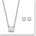 Swarovski Attract Necklace and Pierced Earrings Jewelry Set