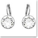 Swarovski Crystal and Rhodium Mini Bella Pierced Earrings, Clear