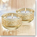 Swarovski Crystal, Shimmer Gold Tea Light, Single